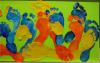 Foto vom Album: Fußabdrücke für unsere große Kunstausstellung: