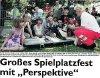 """Vorschaubild der Meldung: Großes Spielplatzfest mit """" Perspektive"""""""