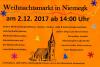 Vorschaubild der Meldung: Weihnachtsmarkt in Niemegk am 02.12.2017