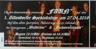 Vorschaubild der Meldung: Kartenvorverkauf zum 1. Ziltendorfer Spektakulum am 27.04.2019 auf dem alten Sportplatz
