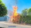 Vorschaubild der Meldung: Einsatz Nr. 1 - Brennt Hecke