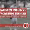 Vorschaubild der Meldung: Fußball: Entscheidung zur gegenwärtigen Saison ist gefallen