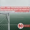 Vorschaubild der Meldung: Spiel- und Trainingsbetrieb im Amateurbereich ab 02.11.2020 untersagt