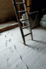 Schnee auf dem Dachboden