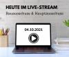Bau- & Hauptausschuss heute im Live-Stream (Online-Sitzungen)