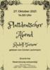 Plakat - Plattdeutscher Abend
