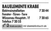Vorschau:Krabe GbR Elektroinst. & Bauelemente