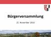 Vorschaubild der Meldung: Nachbericht zur Bürgerversammlung vom 15. November 2016