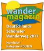 Vorschaubild der Meldung: Wahl zu Deutschlands schönstem Wanderweg 2017: Der FrankenwaldSteig ist nominiert