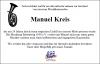 Vorschaubild der Meldung: Nachruf Vereinskamerad Manuel Kreis