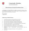 Vorschaubild der Meldung: Gemeinderatssitzung in Hetzles am 22.01.2019