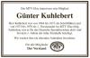 Vorschaubild der Meldung: Günter Kuhlebert verstorben
