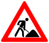 Warnschild Baustelle