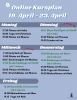 Online Kursplan 19. April - 23. April 2021