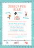 Plakat Zirkusaktion Pfingstferien