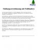 Haftungsvereinbarung für Frühschwimmer