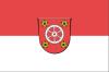 Digitalansicht der Fahne mit Stadtwappen