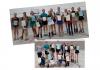 Freiläuferinnen Louise, Lena, Debbora, Lena, Fiona, Dilara (hinten von links),                                                 Uljana, Lisa-Marie, Lena-Sophie, Carolina (unten von links) mit den Trainerinnen Monique und Veronika