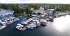 Luftbildaufnaheme Bootsanlegesteg Bootshaus am Werlsee